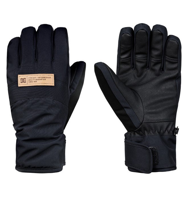 0 Women's Franchise Snowboard/Ski Gloves Black EDJHN03012 DC Shoes