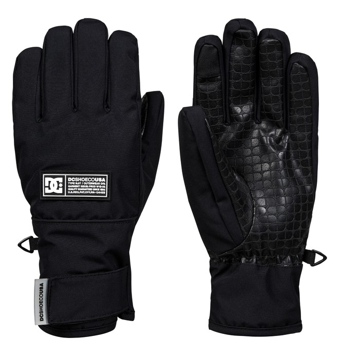 0 Franchise Snowboard/Ski Gloves Black EDJHN03015 DC Shoes