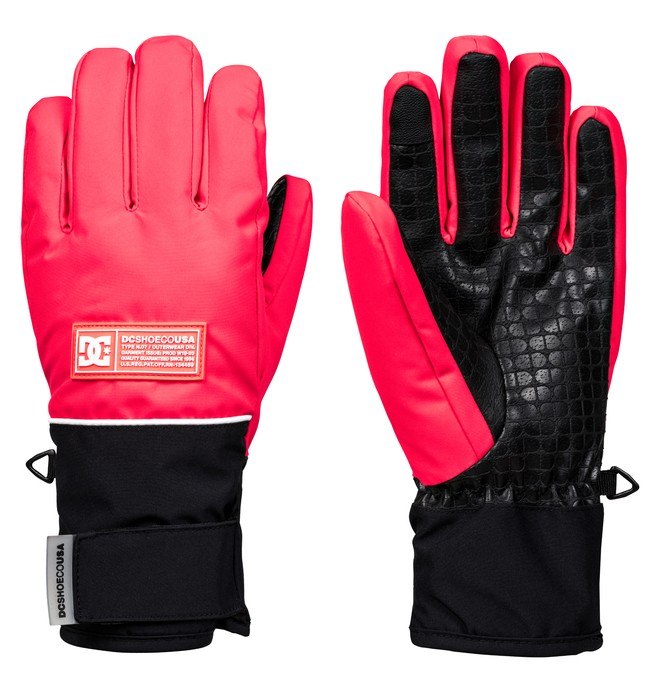0 Franchise Snowboard/Ski Gloves Pink EDJHN03015 DC Shoes