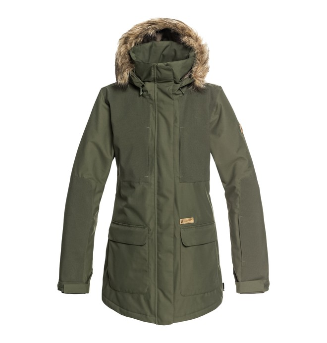 0 Panoramic - Parka de snow pour Femme Vert EDJTJ03032 DC Shoes