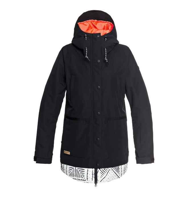 0 Women's Riji Snow Jacket Black EDJTJ03035 DC Shoes