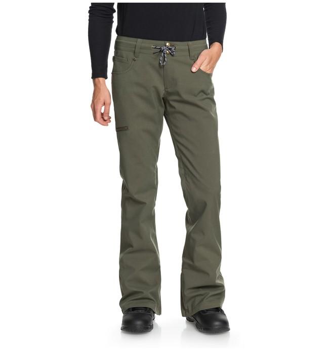 0 Women's Viva Snow Pants Green EDJTP03017 DC Shoes