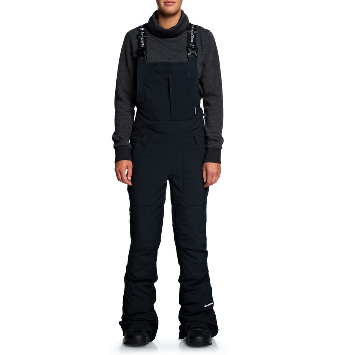 0 Collective 30K Packable Snow Bib Pants Black EDJTP03020 DC Shoes
