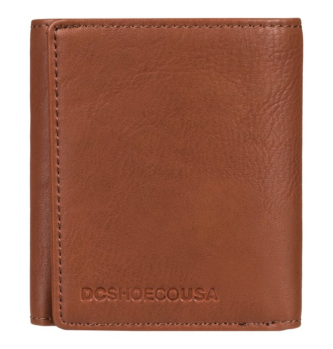0 Side Note - Tri-Fold Wallet for Men Brown EDYAA03133 DC Shoes