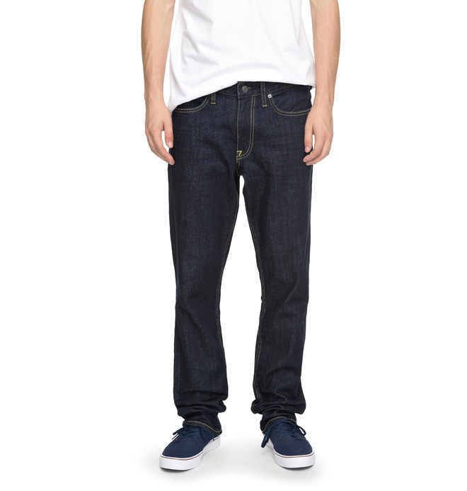 0 Worker Indigo Rinse Straight Straight Fit Jeans  EDYDP03324 DC Shoes