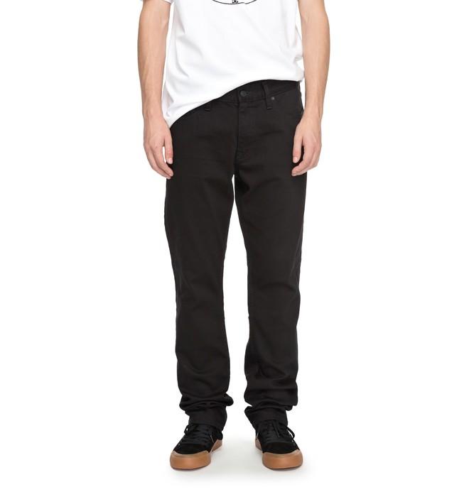 0 Worker Black Rinse - Jean ample pour Homme Noir EDYDP03337 DC Shoes