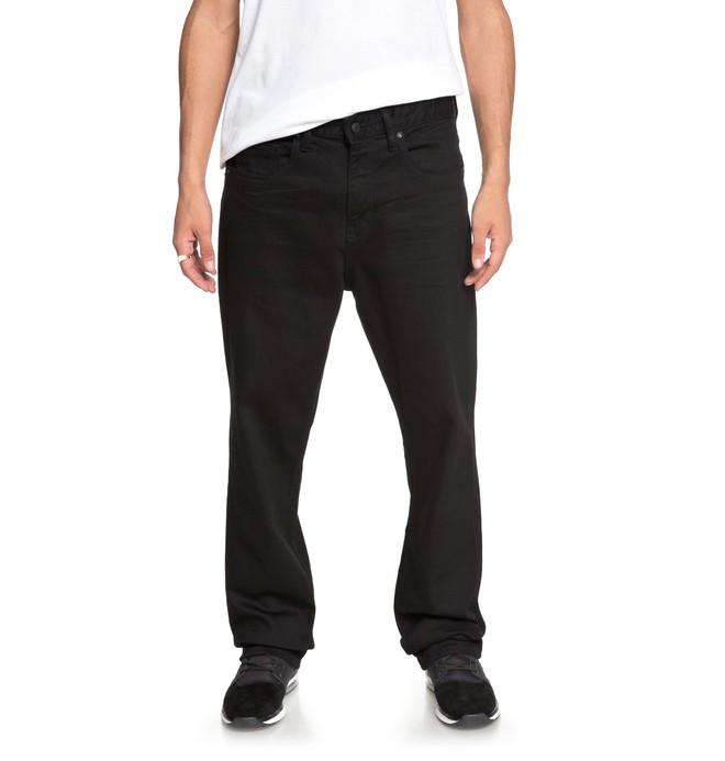 0 Worker Black Rinse - Jean ample pour Homme Noir EDYDP03349 DC Shoes