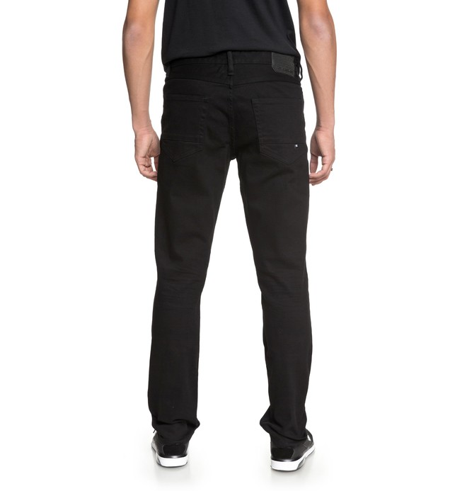 Worker Black Rinse - Straight Fit Jeans for Men EDYDP03367