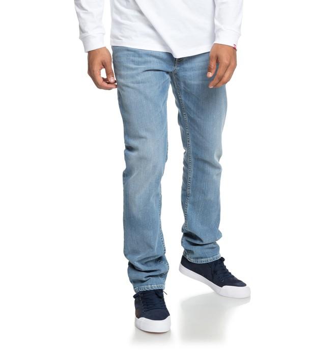 0 Worker Light Bleach - Jean straight pour Homme Bleu EDYDP03374 DC Shoes
