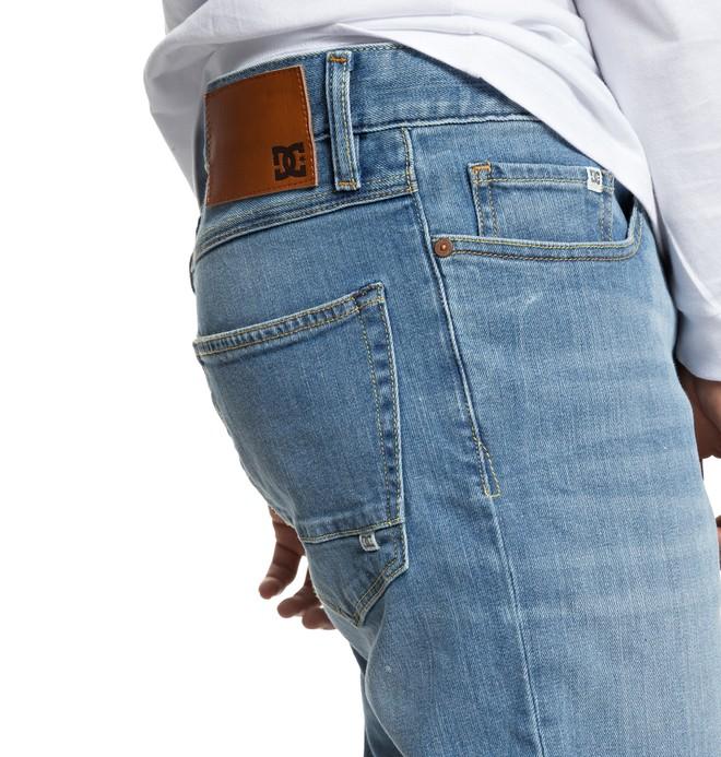 Worker Light Bleach - Straight Fit Jeans for Men  EDYDP03374
