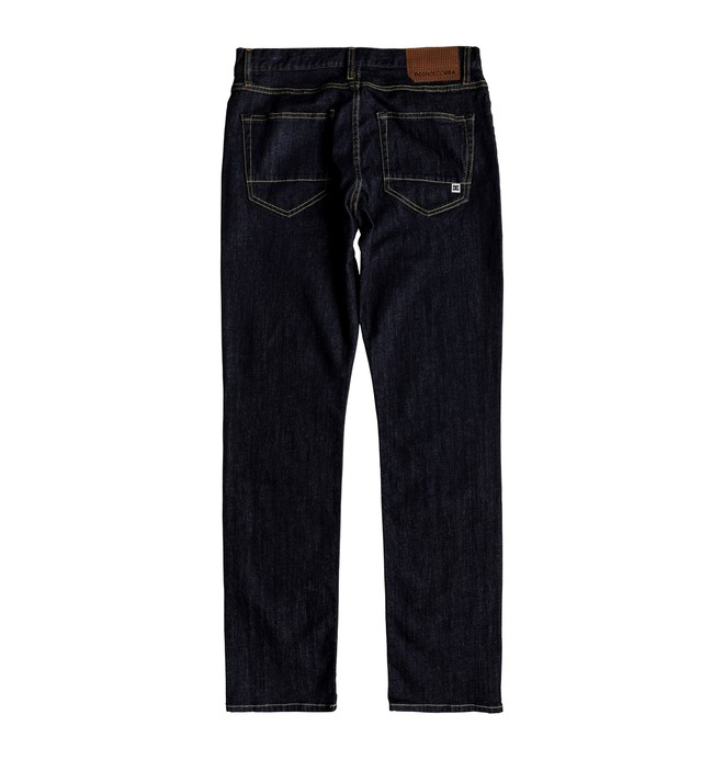 Worker Indigo Rinse - Straight Fit Jeans for Men  EDYDP03376