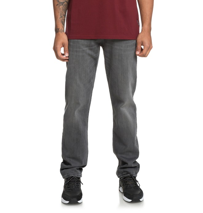 0 Worker Medium Grey - Relaxed Fit Jeans for Men Black EDYDP03379 DC Shoes