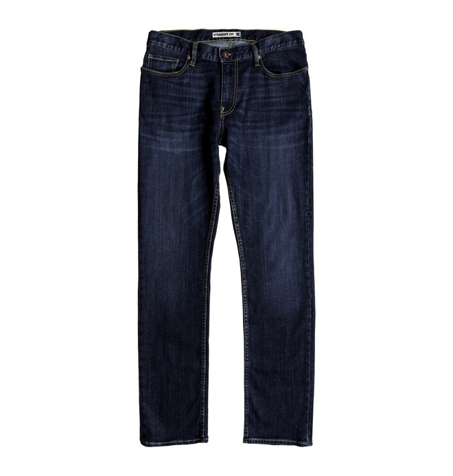 Worker Medium Stone - Straight Fit Jeans for Men  EDYDP03388