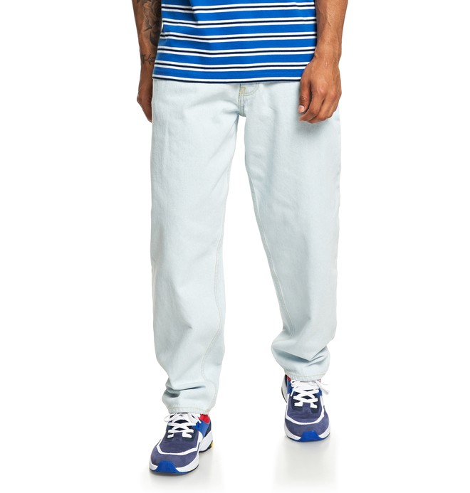 0 Worker - Jean relaxed pour Homme Blanc EDYDP03390 DC Shoes
