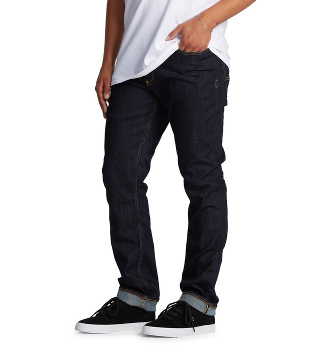 Worker Indigo Rinse - Straight Fit Jeans for Men  EDYDP03400