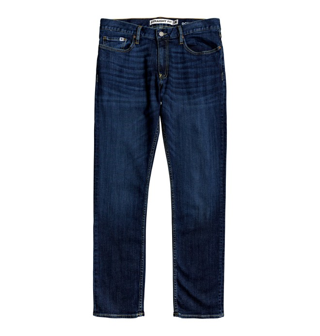 0 Worker Medium Stone Straight Fit Jeans Blue EDYDP03407 DC Shoes