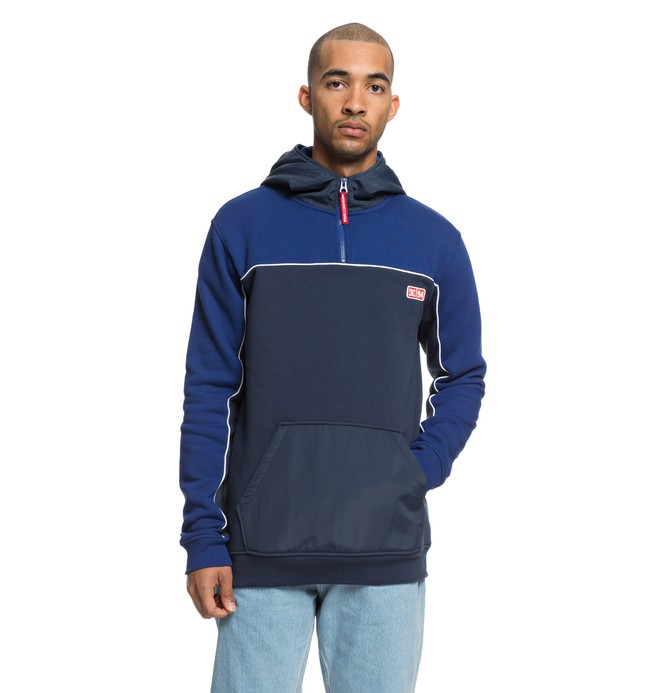 0 Clewiston Half Zip Hoodie Blue EDYFT03390 DC Shoes