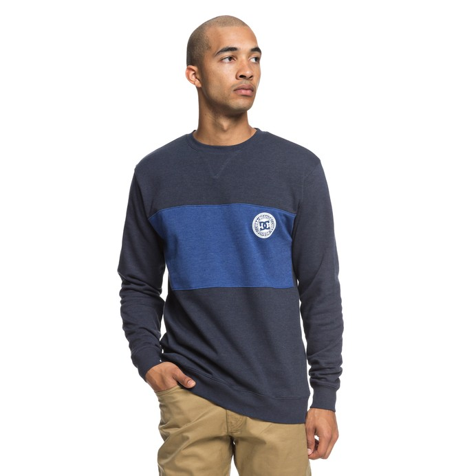 0 Rebel Block Sweatshirt Blue EDYFT03393 DC Shoes