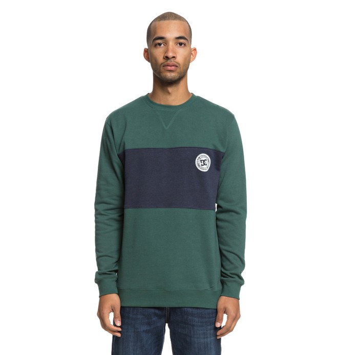 0 Rebel Block Sweatshirt Green EDYFT03393 DC Shoes