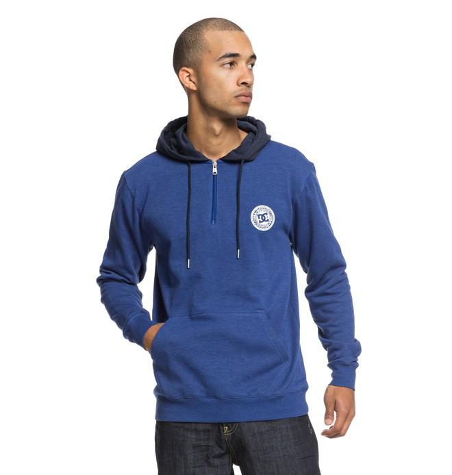 0 Rebel - Sudadera con cremallera hasta media altura y capucha para Hombre Azul EDYFT03395 DC Shoes
