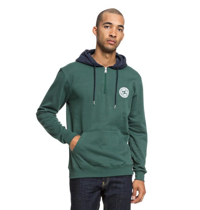 0 Rebel - Sudadera con cremallera hasta media altura y capucha para Hombre Verde EDYFT03395 DC Shoes