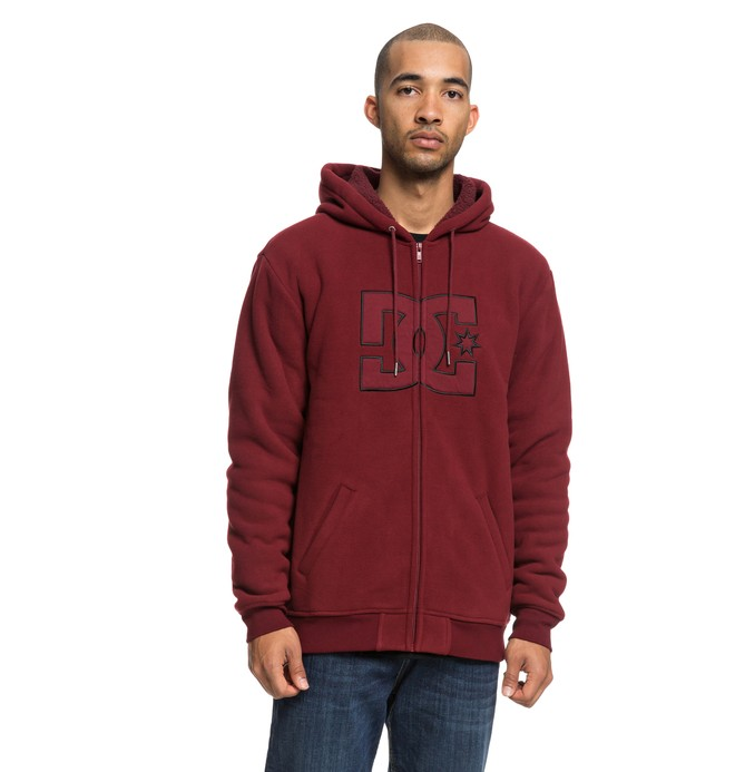 0 New Star Sherpa - Sweat à capuche zippé pour Homme Rouge EDYFT03399 DC Shoes