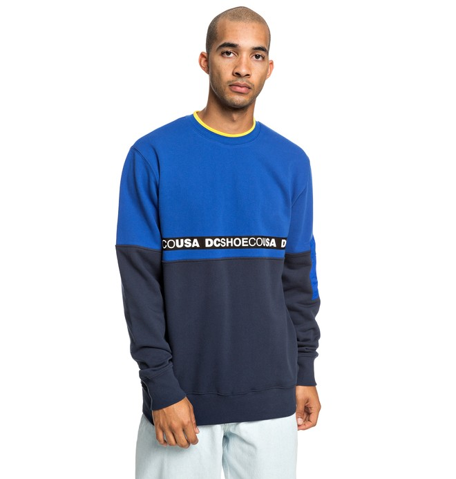 0 Simmons - Sweat pour Homme Bleu EDYFT03419 DC Shoes