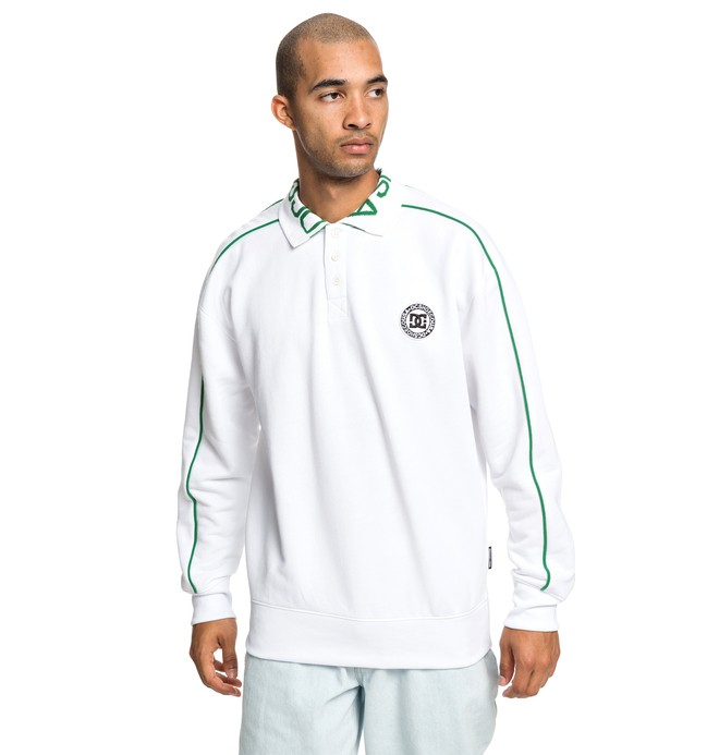 0 Springhill - Sweat type polo pour Homme Blanc EDYFT03420 DC Shoes