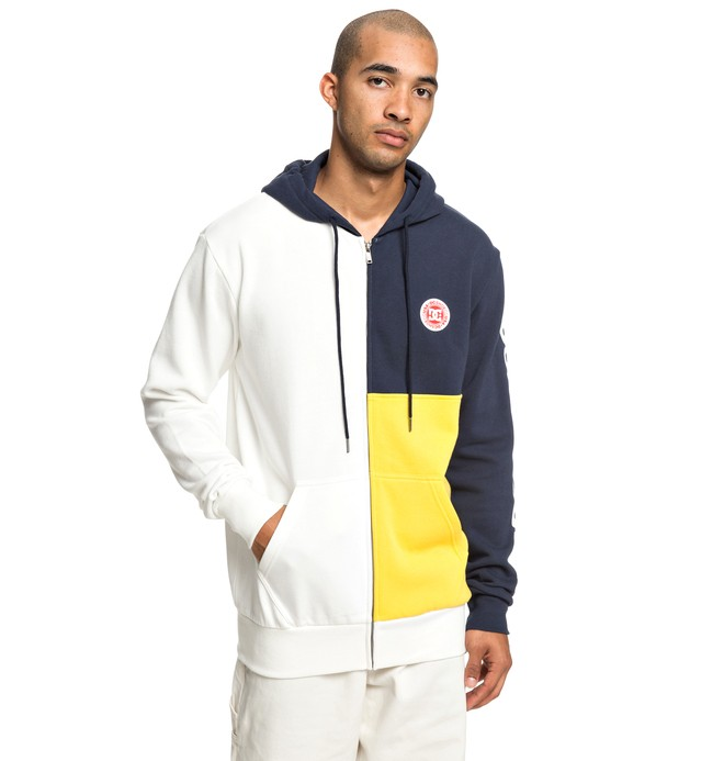 0 Hambledon Zip-Up Hoodie White EDYFT03422 DC Shoes