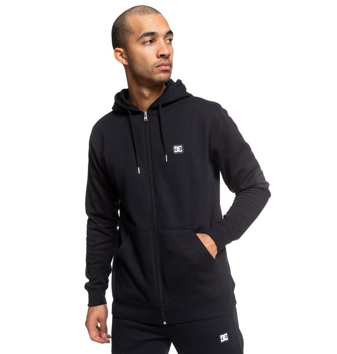 0 Rebel Zip-Up Hoodie Black EDYFT03454 DC Shoes