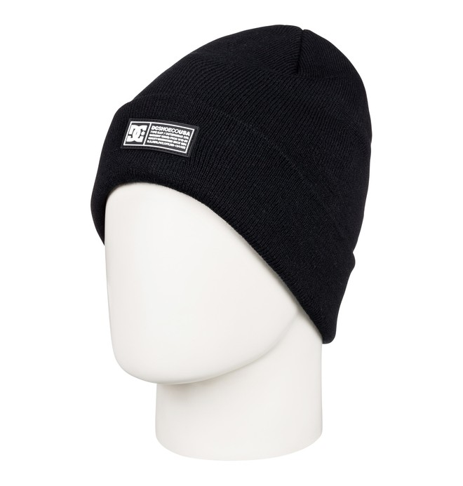 0 Label Cuff Beanie Black EDYHA03095 DC Shoes