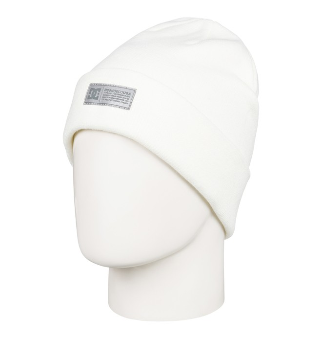 0 Label Cuff Beanie White EDYHA03095 DC Shoes