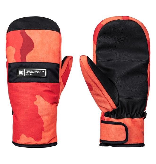 0 Franchise Snowboard/Ski Mittens Orange EDYHN03035 DC Shoes