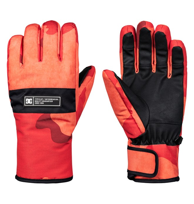 0 Franchise Snowboard/Ski Gloves Orange EDYHN03036 DC Shoes