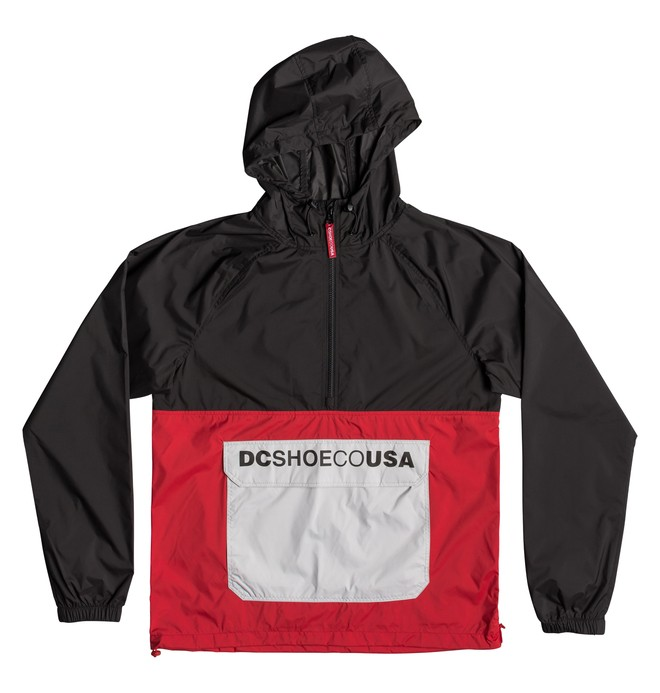 0 Sedgefield Water Resistant Hooded Anorak Red EDYJK03167 DC Shoes