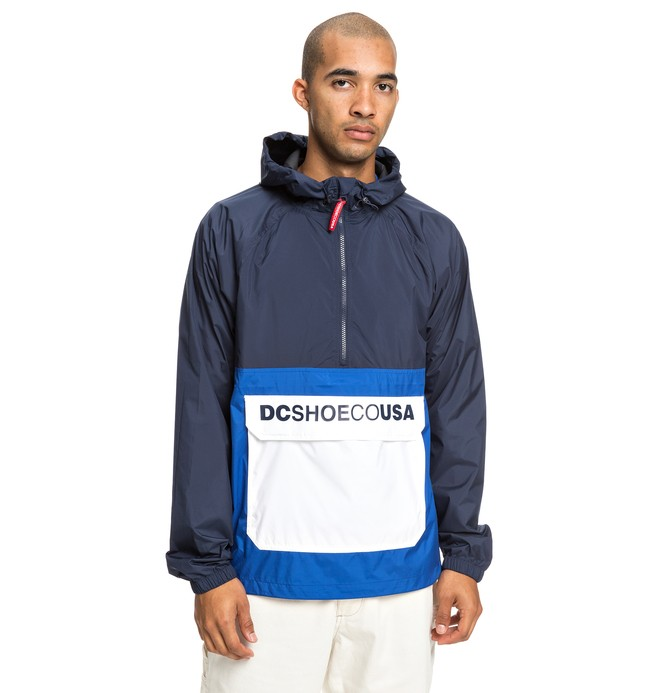 0 Sedgefield Water Resistant Hooded Anorak Blue EDYJK03167 DC Shoes
