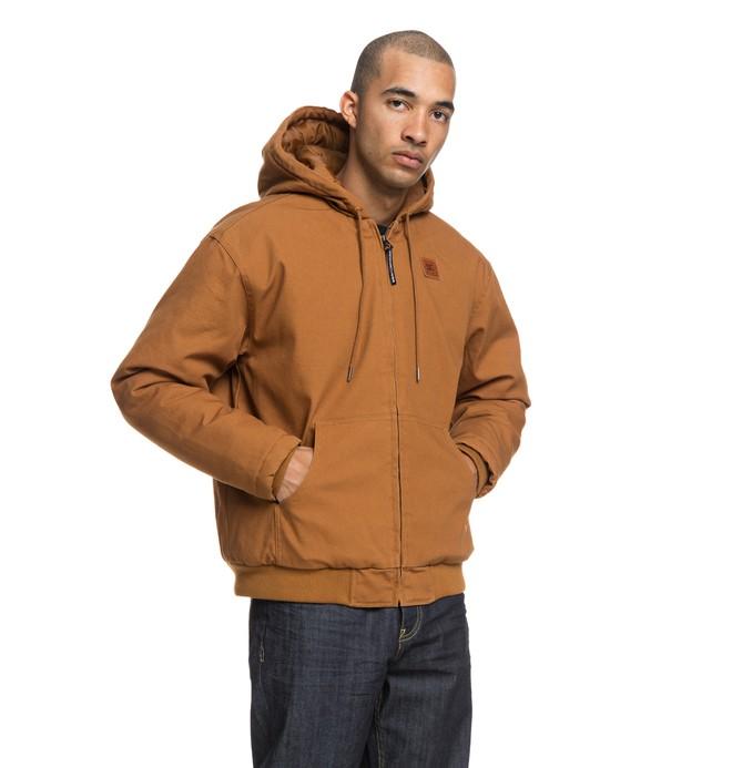 0 Brandling - Veste à capuche déperlante pour Homme Orange EDYJK03175 DC Shoes