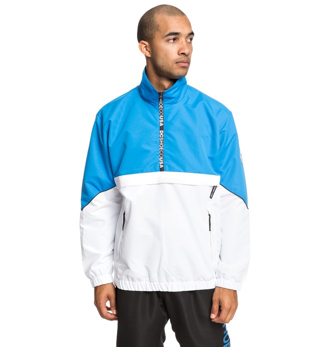 0 Tipton Water-Resistant Half-Zip Track Jacket Blue EDYJK03189 DC Shoes