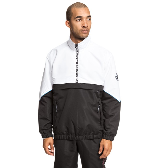 0 Tipton Water-Resistant Half-Zip Track Jacket Black EDYJK03189 DC Shoes