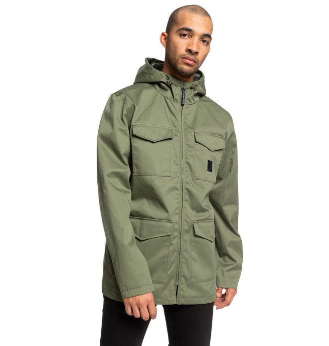 Mastaford - Water-Resistant Hooded Field Jacket for Men  EDYJK03196
