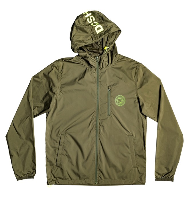 0 Dagup Water-Resistant Hooded Windbreaker Brown EDYJK03203 DC Shoes