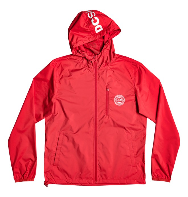 0 Dagup Water-Resistant Hooded Windbreaker Red EDYJK03203 DC Shoes