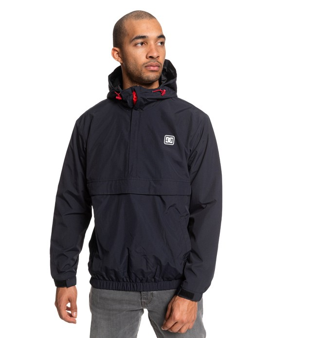 0 Crawhall Half-Zip Hooded Anorak Black EDYJK03207 DC Shoes