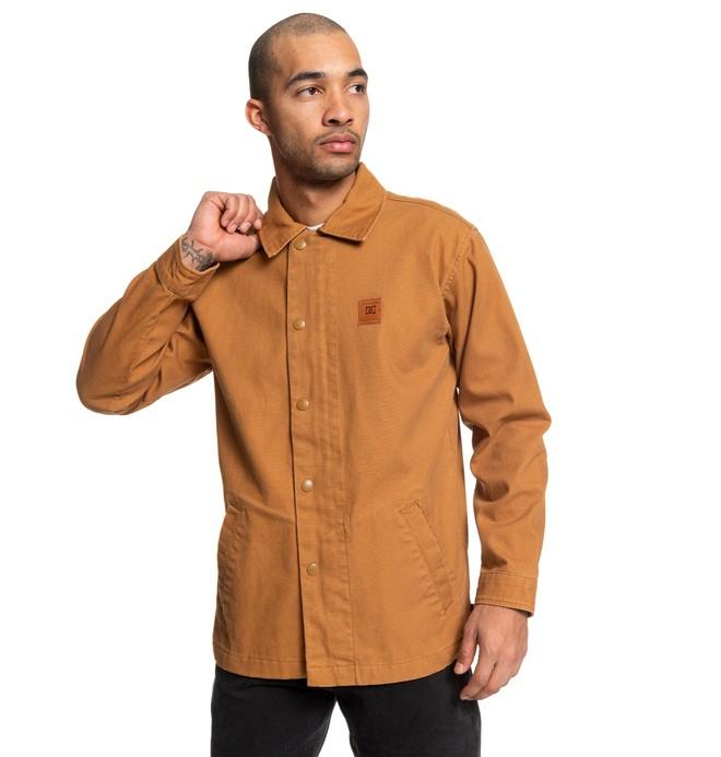0 Alton - Coaches Jacket Orange EDYJK03211 DC Shoes