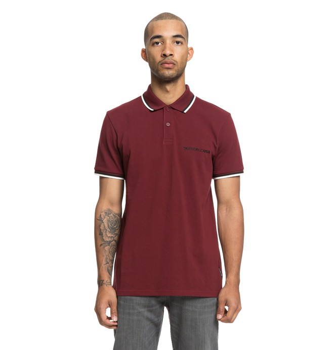 0 Lakebay - Polo à manches courtes pour Homme Rouge EDYKT03411 DC Shoes