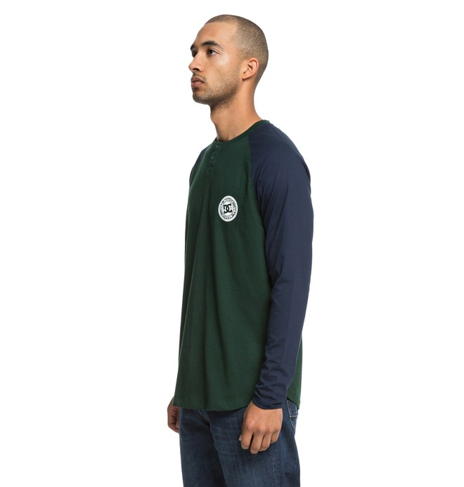Basic - Long Sleeve Henley Top  EDYKT03414