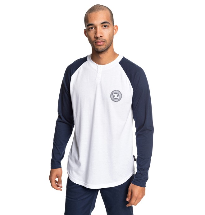 0 Basic Long Sleeve Henley Top White EDYKT03414 DC Shoes