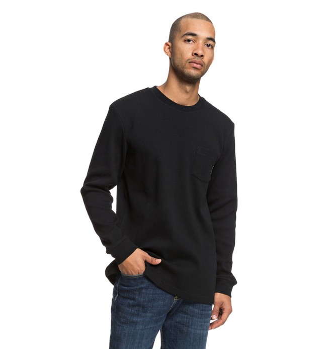 0 Fraserview Long Sleeve Tee Black EDYKT03417 DC Shoes