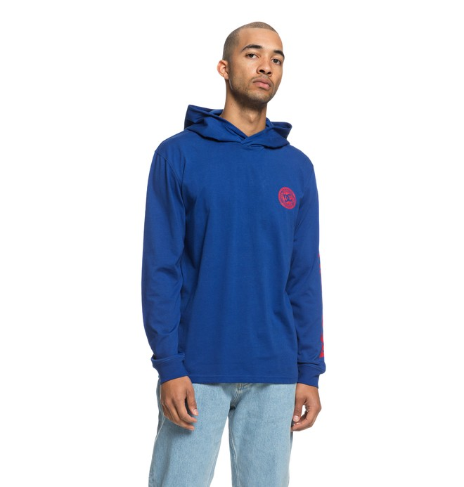 0 Rellin Long Sleeve Hooded Tee Blue EDYKT03418 DC Shoes