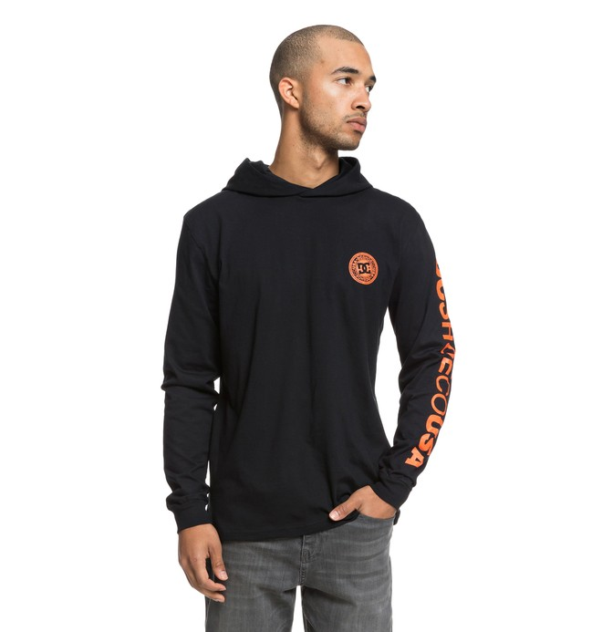 0 Rellin Long Sleeve Hooded Tee Black EDYKT03418 DC Shoes
